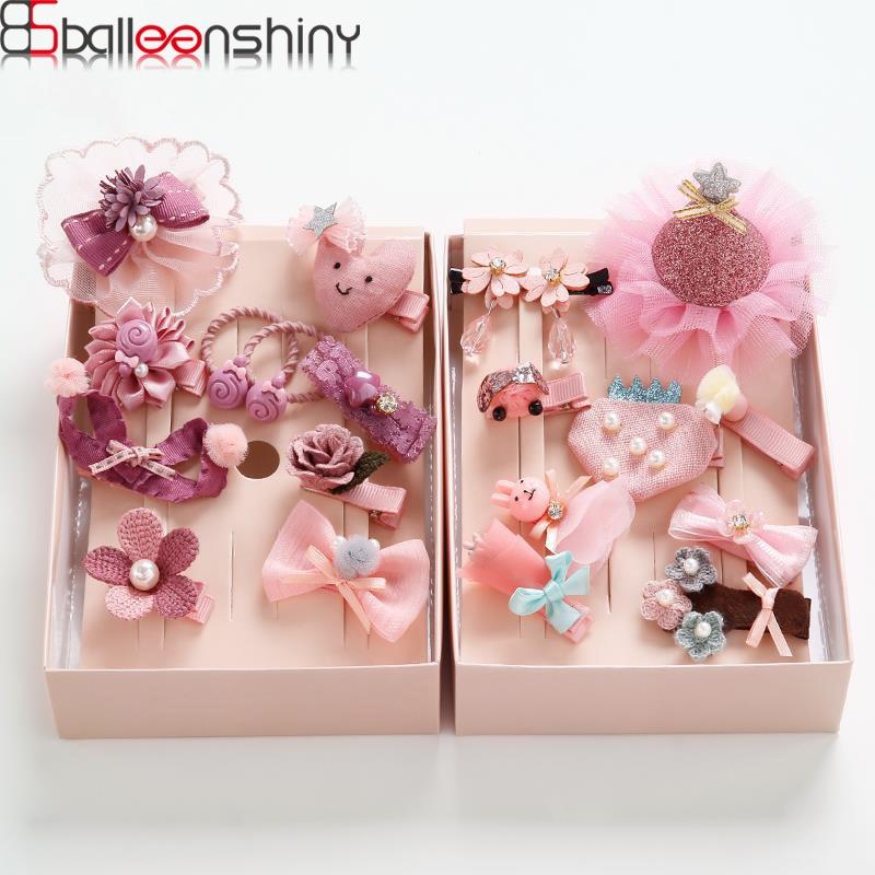 BalleenShiny 10Pcs/set Baby Girls Hairpin Hair Band Set Sweet Kids Animal Cartton Hair Clip Princesses   Headwear   Accessories