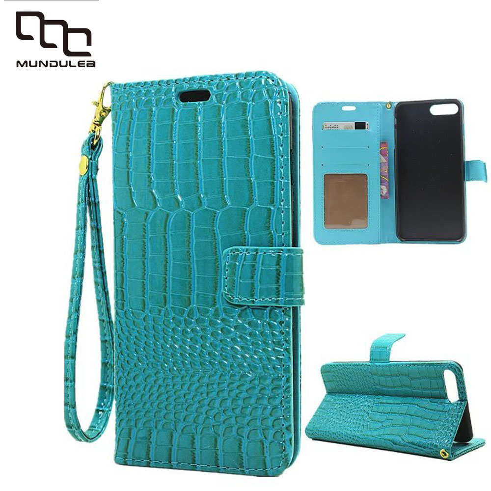 For iphone 6 6s 7 Classic Crocodile PU Leather Wallet Phone Bag Case Cover For iPhone 6 plus 7 Plus Wallet Case With Card Slot
