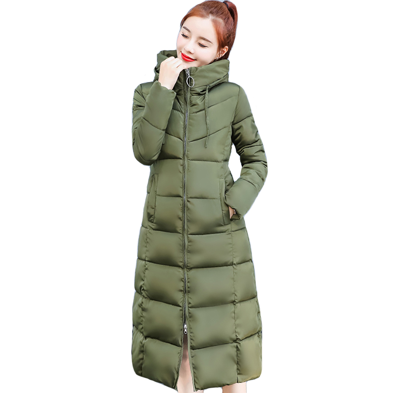 2019 Plus Size 4XL 5XL 6XL Winter Jacket Women Hooded Padded Warm Thicken Female Coat Long   Parka   Ladies Slim