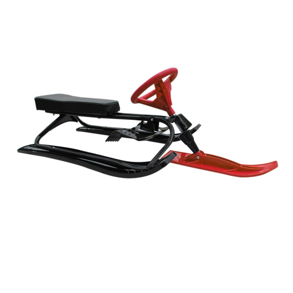 Snow Racer With Safe Brake Snow Sled Snowmobile With Anti-slip Handle Bar Skiing Car Eletric