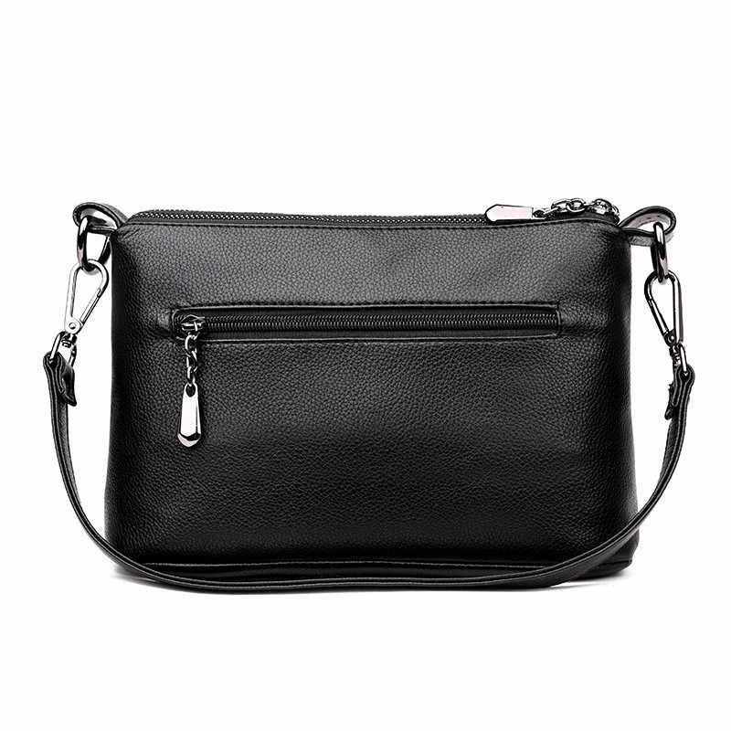 3 слоя мягкой кожи роскошные сумки для женщин дизайнер высокое качество через плечо для 2018 sac основной femme
