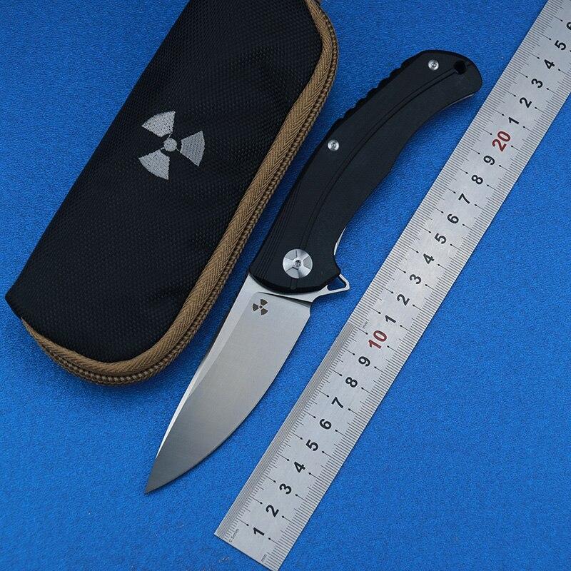 LEMIFSHE JK3215BG Flippre Folding knife D2 blade Titanium Meteorite pattern handle kitchen outdoors utility fruit Knives EDC Too in Knives from Tools