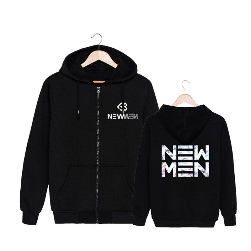 Kpop Koreanische Mode BTOB 9th Mini Album Neue Wen Baumwolle Zipper Hoodies Kleidung Zip-up Sweatshirts PT309