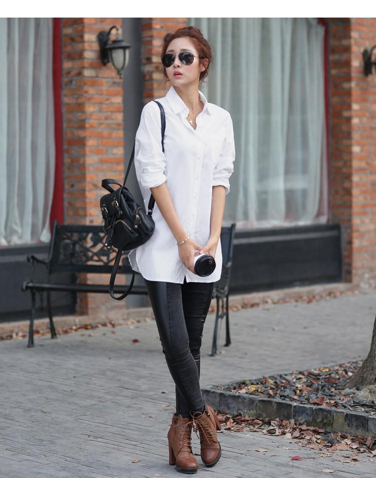 Long-sleeve loose casual women's shirt 1