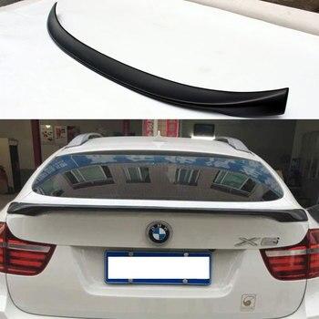 M performans tarzı X6 E71 Boyasız Fiberglas arka bagaj Spoiler boot kanat BMW X6 E71 2008 ~ 2013