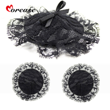 Morease Black Lace Nipple Stickers Cover Pads milk Paste Sexy Breast Petals Bdsm Sex Products Toy For Women Adult Game