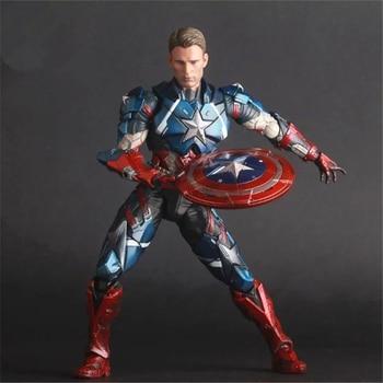 Crazy Toys Avengers Captain America Civil War Super Heroes Captain America PVC Action Figure Collectible Model Toys Doll 25cm