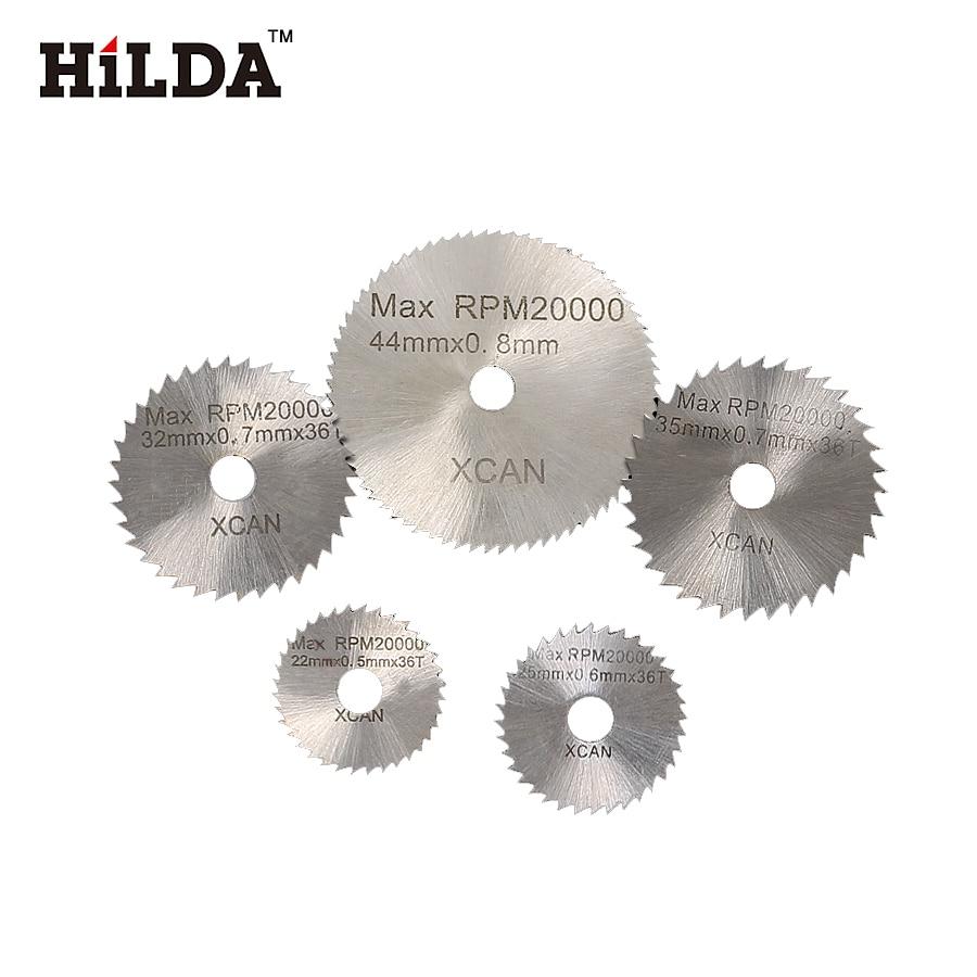 HILDA 6Pcs Mini HSS Ferăstrău circular tăiat disc cu tăietor cu - Instrumente abrazive - Fotografie 4