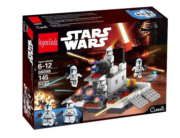 145 unids Fortaleza de Batalla de Star Wars Building Blocks Set Starwars Lepine
