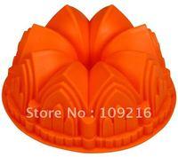 Verde boa qualidade 100% food grade silicone bolo mold mold/chocolate/muffin cupcake pan big flower diy molde