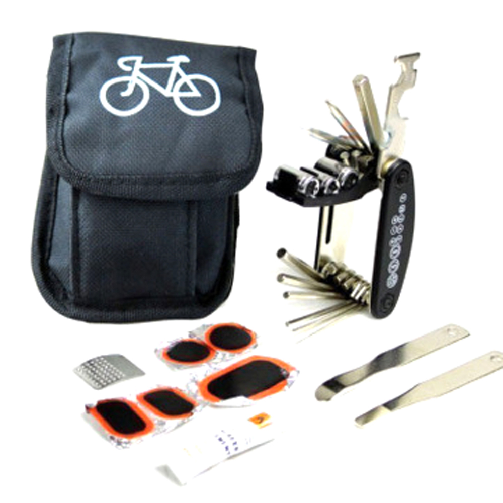 MIX In 1 Cycling Bicycle Tools Bike Repair Kit Set With Pouch Pump Black Bicycle Accessories Mountain Tool