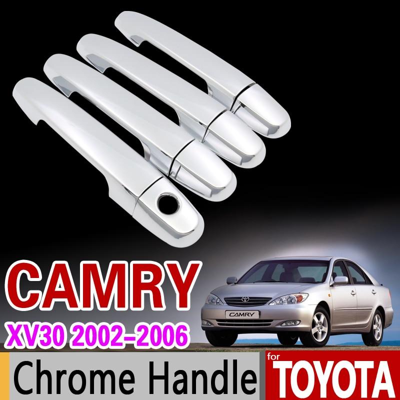 for Toyota Camry 2002 - 2006 XV30 Chrome Handle Cover Trim for Daihatsu Altis Accessories Stickers Car Styling 2003 2004 2005 xyivyg 2002 03 04 05 06 07 08 chrome abs mirror cover handle cover for 02 08 for dodge ram 1500 2500 3500
