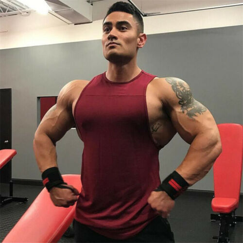 Men Muscle Tank Top Shirts Cotton Sleeveless Gym Tee workout Casual A-Shirt Summer Solid Tees Clothing