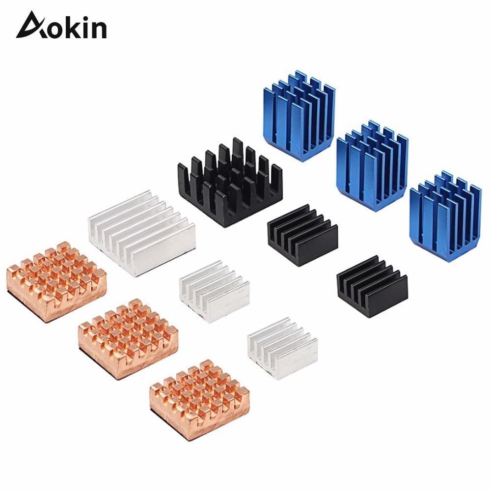12 Pcs Raspberry Pi 3 Heat Sink Copper Aluminum Heatsink Radiator Cooler Kit For Raspberry Pi 3B+ Plus 2(China)