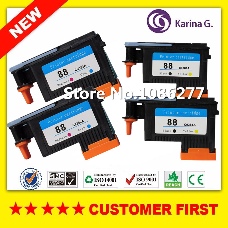 2sets of print heads for hp88 for hp 88 Printhead for HP Officejet Pro K8600 8600 L7580 7590 K5400 K550 printer