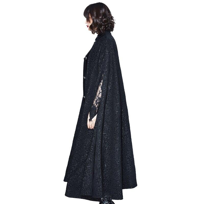 Arrivée Noir Capes Parti Mode Noble Manteau Halloween Palais Foncé 2018 Hiver Nouvelle Gothique Unisexe Cosplay Cap Diable Black Automne Bw0x5qWA