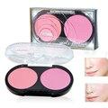 Highlighter Natural Face Makeup Blush Palette 2 color Cheek Matte Blusher Powder Mineral Cosmetic Make up Set Orange Pink