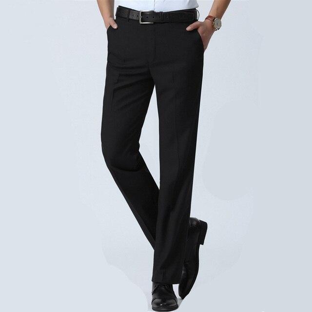 Men Suit Pants S Slim Fit Dress Office Trousers Size Business Clic