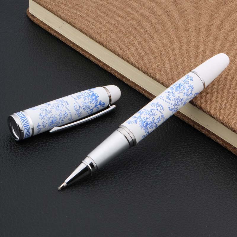 Hot New Chinese Blue And White Porcelain Pattern Rollerball Pen