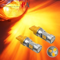 PA LED 2pcs X 21SMD 2835 LED Yellow Amber Color T20 7440 7443 Car LED Direction