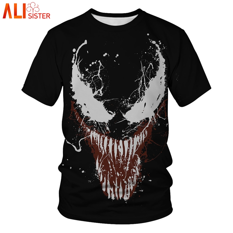 Venom Compression Shirt 3D Printed T Shirts Men 2019 Summer Cosplay Costume Short Sleeve Tops Male Clothing Plus Size Tees