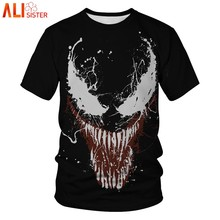 91dcc401ad Venom Compression Shirt 3D Printed T Shirts Men 2019 Summer Cosplay Costume  Short Sleeve Tops Male
