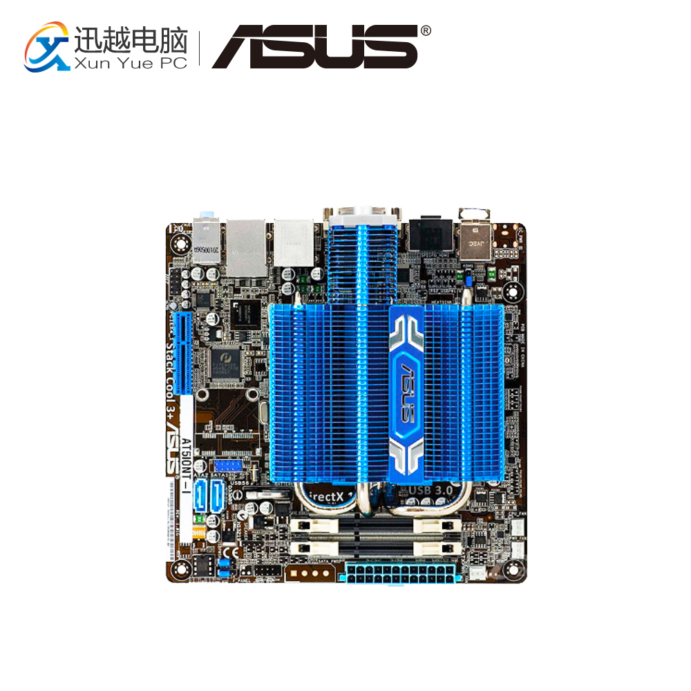 Asus AT5IONT-I Desktop Motherboard Intel Atom D425 Processor on board NM10 chipset SO-DIMM DDR3 17x17cm DDR3 Mini-ITX mitx motherboard with integrated intel atom d525 or d425 processor miniaturized mini itx industrial motherboard
