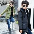 Ropa de los niños masculinos wintercotton abrigo niño engrosamiento abrigo chaqueta de algodón acolchado muchachos grandes de ropa de algodón caliente YL321