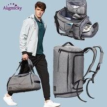 Erkekler kadınlar spor spor sırt çantası ile ayakkabı saklama çantası eğitim Yoga seyahat kuru ıslak çok fonksiyonlu çanta Anti hırsızlık sırt çantaları
