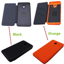 Housing Back Battery Cover Case For Microsoft Lumia 640 XL Flip Shell Hybrid Leather Protective Capa Housing Door Case Coque
