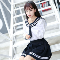 Japanese school uniform girls school class navy sailor school uniforms Girl Enma ai Anime Cosplay girls suit School Uniforms
