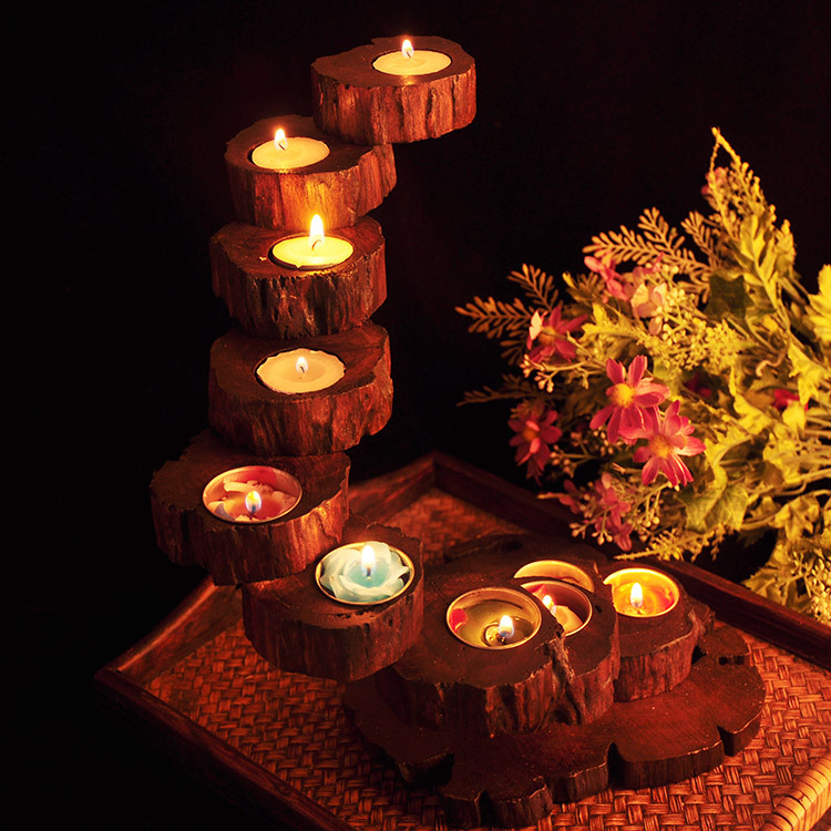Online buy wholesale wooden candle holders from china