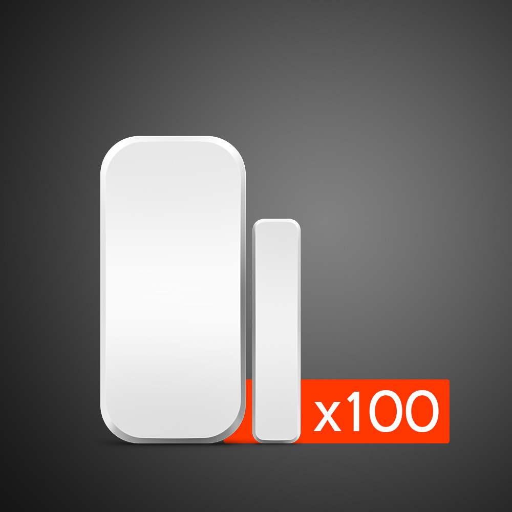 100 pièces en gros Kerui 433MHz sans fil porte fenêtre détecteur magnétique Gap capteur pour système d'alarme de sécurité à domicile clavier tactile