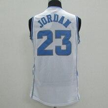 09904868849 Retro College 23 Michael Jordan North Carolina UNC Tar Heels 100% Stitched