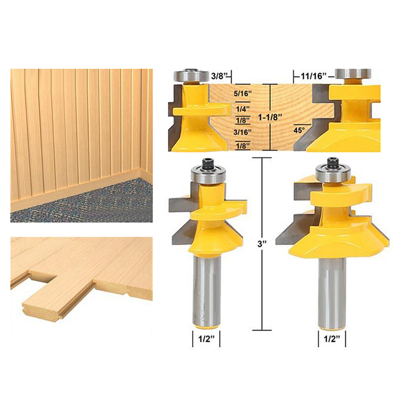 New 1/2*28.6MM Milling Cutter Door Edge Knife Flooring Engraving Machine Cutter Wooden Case Woodworking Frame Edges Tenon Knife