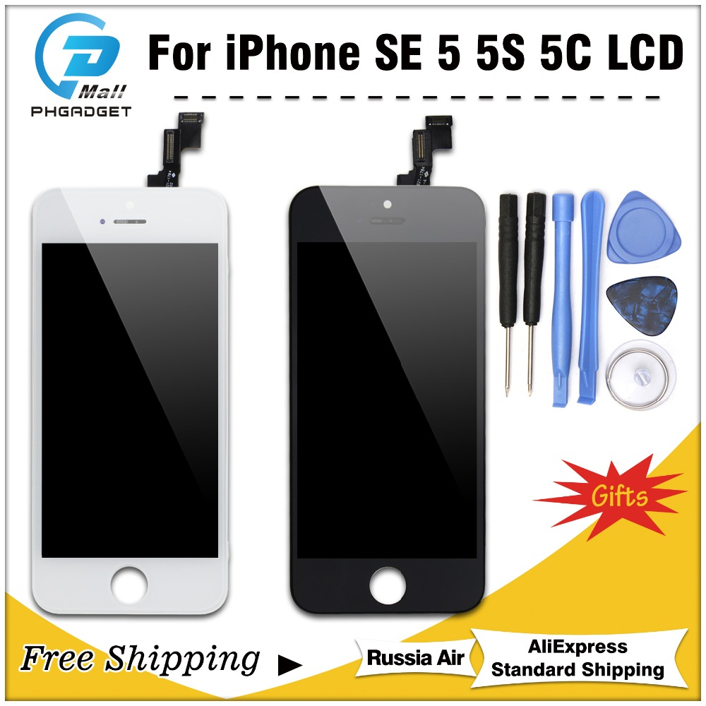 1PCS 100% AAAA Original <font><b>LCD</b></font> <font><b>Screen</b></font> Für <font><b>iPhone</b></font> 5 S 5 SE 5C Bildschirm <font><b>LCD</b></font> <font><b>Display</b></font> Digitizer Touch Modul 5 S SE Bildschirme Ersatz image