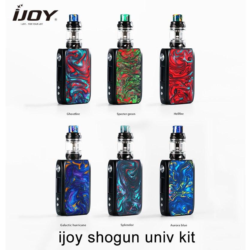 Original ijoy SHOGUN UNIV kit 180w cigarette électronique vape mod alimenté par double 18650 avec réservoir KATANA SUBOHM vs glisser 157w