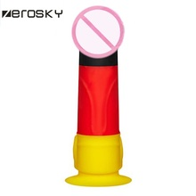 Zerosky Super Realistic Artificial Penis Dildo Colorful Fake Cock Male Genital Silicone Dildos For Women Adult Sex Toys