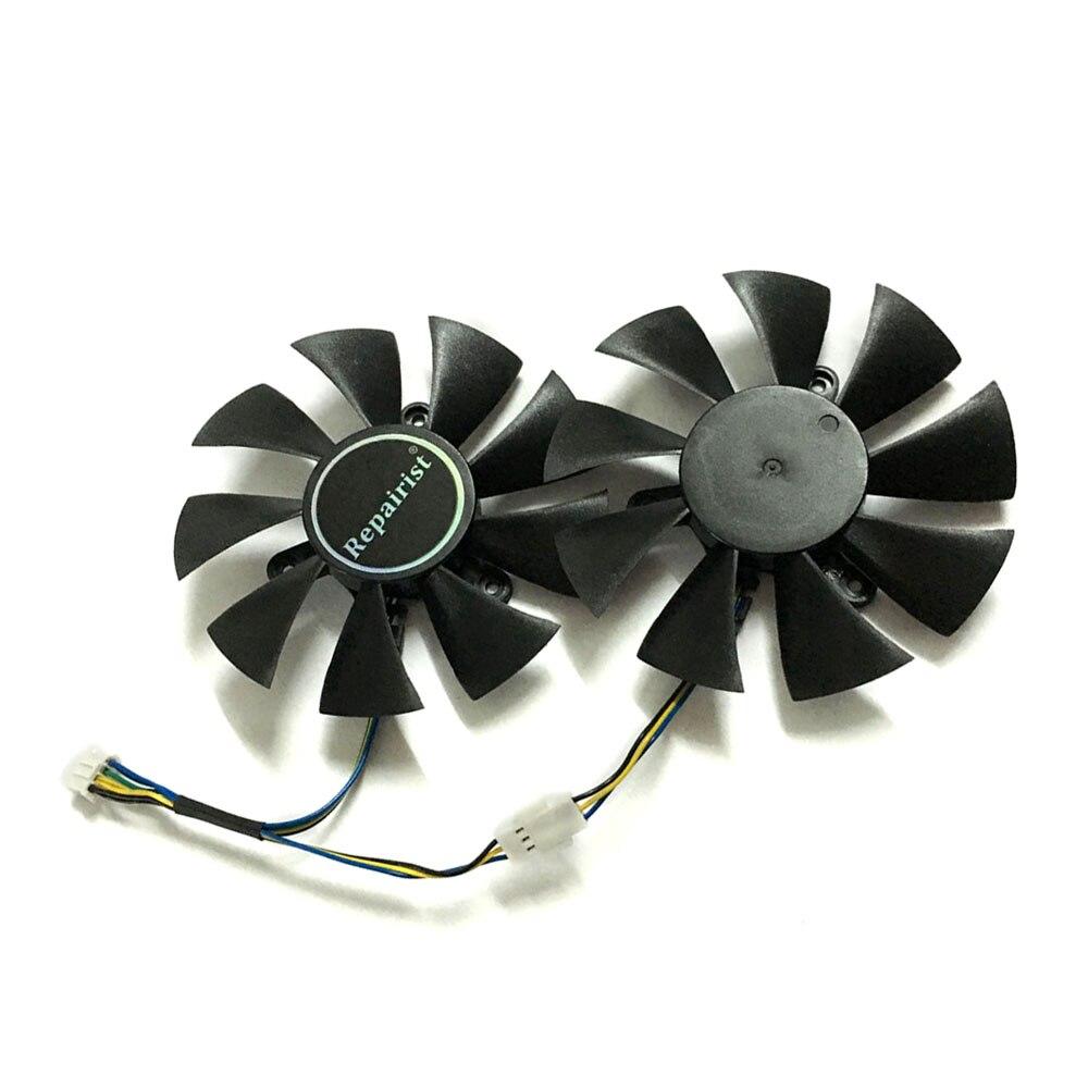 2 pçs/lote placas de vídeo GTX 1070 GPU cooler fan Para zotac GTX1070 MINI resfriamento GPU da Placa Gráfica