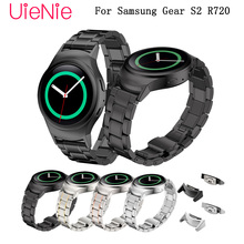 Bracelet for Samsung Gear S2 R720 Smart watch wristband business strap metal stainless steel 20mm wrist strap bracelet watchband stainless steel watch band for samsung gear s4 sport smart watchband 20mm metal strap belt wrist loop bracelet black blue silver