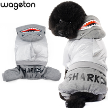 Hot WAGETON Fashion Dog Clothes SHARK Jumpsuit Wholesale And Retail Pet Puppy Cat Warm Coat Apparel -Halloween Costume