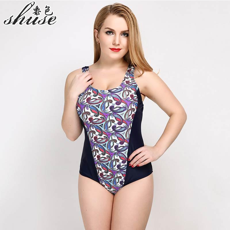 Купальник SHUSE большого размера, одноцветный принт, слитный купальник, женское сексуальное боди с открытой спиной, большое монокини, пляжный купальный костюм, популярный товар 2017