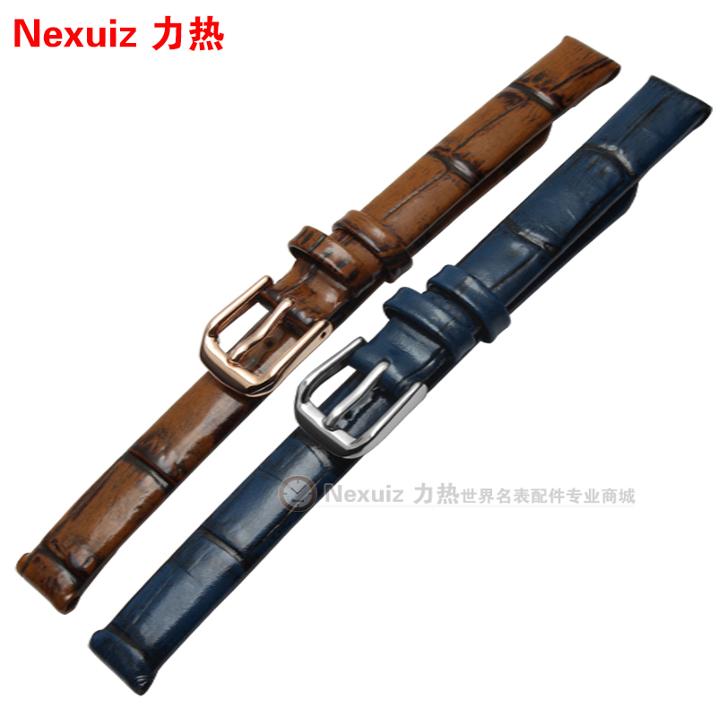 Retro strap Genuine Leather Watchband For Women Small Size Watch Straps 6mm 8mm 10mm blue|brown fashion| charm bracelet | Watchbands
