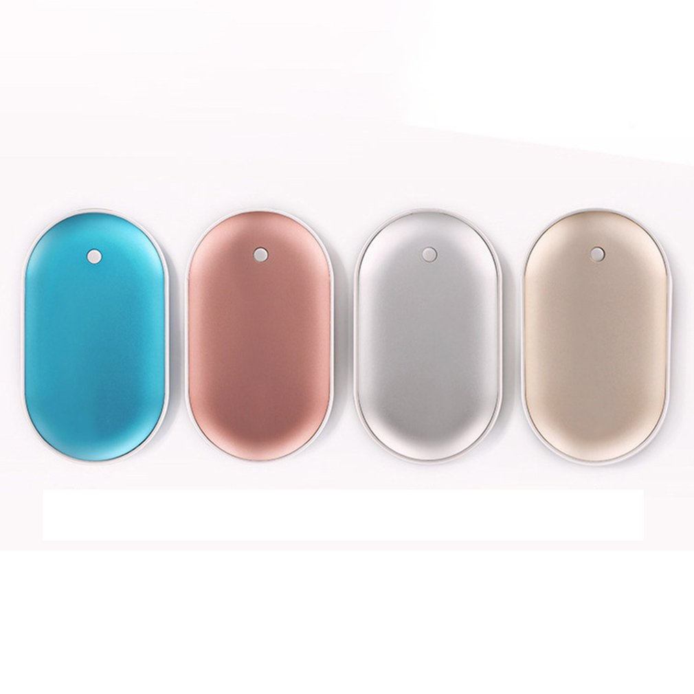 2 In 1 Cute USB Rechargeable Hand Warmer And 5200 MAh Power Bank 5V Mini Portable Reusable Travel Long-Life Pocket Hand Warmer