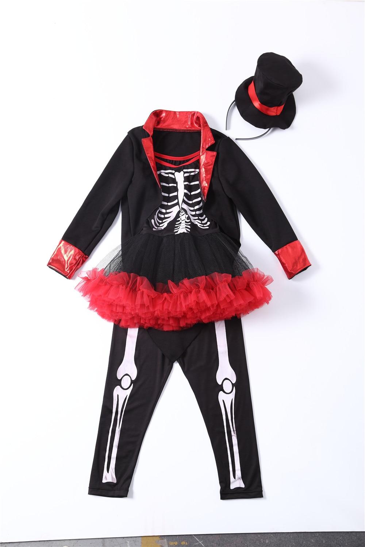 2018 hot skeleton cosplay costume children pirate halloween costume