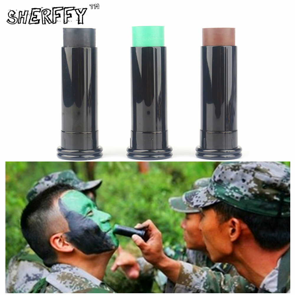 SHERFFY Military Quality Camouflage Face Body Paint Pencil Army Flash Tattoo Oil Painting Arts War Game Tactical Makeup Tools