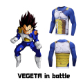 Mens Anime Prints Fitness Clothing Dragon Ball/Naruto/One Piece/Pokemon t shirts Male Long Sleeve Compression Shirt Cosplay
