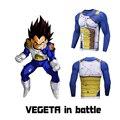 Mens Ropa Dragon Ball Anime Impresiones de Fitness/Naruto/Una Sola Pieza/Pokemon camisetas Hombre de Manga Larga de Compresión camisa Cosplay