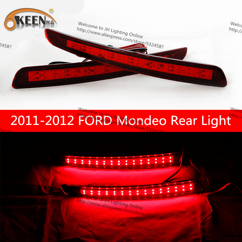 OKEEN For ford car styling led Waterproof High Quality Red Rear Bumper Light Tail Brake light Fog Lamp For Ford Mondeo 2011-2012 new car red tail rear bumper reflector lamp brake light rear fog lights for ford fiesta 2009 2010 2011 2012 2013 2014 hatchback