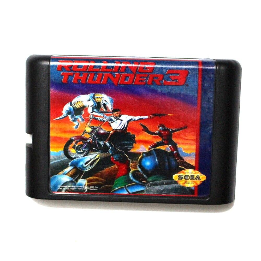 Rolling Thunder 3 III Game Cartridge Newest 16 bit Game Card For Sega Mega Drive / Genesis System